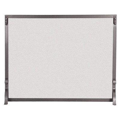 1-Panel-Forged-Iron-Fireplace-Screen-Finish-Vintage-Iron-Size-33-H-x-44-W-0