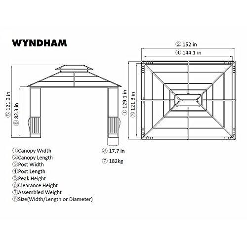 10-x-12-Heavy-Duty-Galvanized-Steel-Hardtop-Wyndham-Patio-Gazebo-0-0