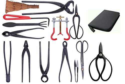 14-pc-Bonsai-Tool-Set-Carbon-Steel-with-case-0