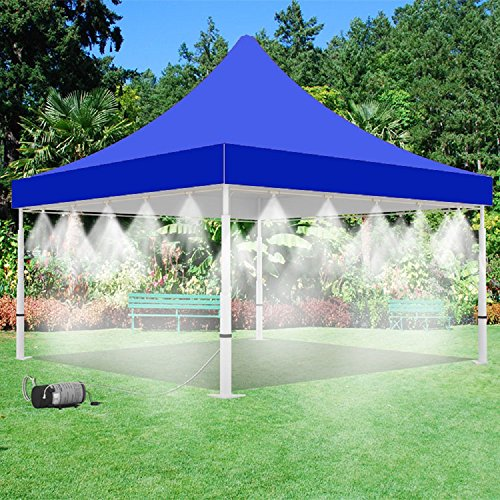 160-PSI-Mistcooling-Tent-Outdoor-Living-Misting-Tent-4-Sides-Misting-with-Mid-Pressure-Misting-Pump-White-10-x-10-0