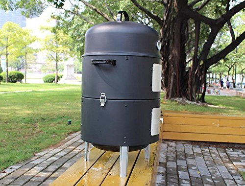 17-Black-Steel-Multi-functional-BBQ-Charcoal-Grill-Smoker-with-BBQ-Cooking-Accessories-Cold-Smoke-Generator-Meat-Smoking-Wood-Chips-0-1