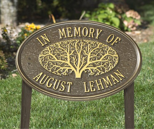 2-Line-Personalized-Great-Oak-Tree-Memorial-Lawn-Plaque-0
