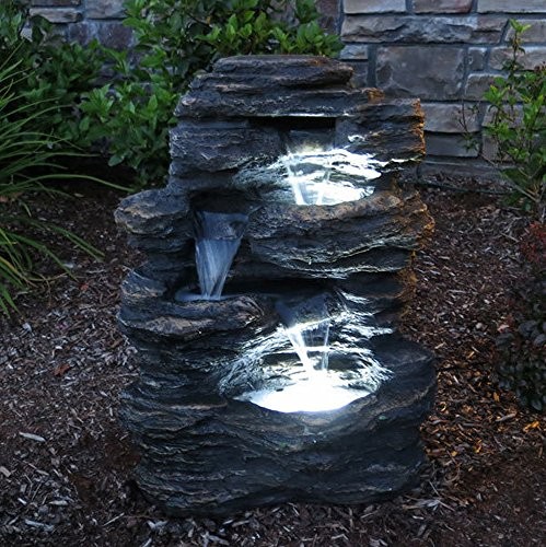 24-Rock-Waterfall-Garden-Fountain-w-LED-Lights-Perfect-Garden-Water-Feature-Patio-Fountain-Outdoor-Fountain-Features-Elegant-Waterfall-Flow-0-1