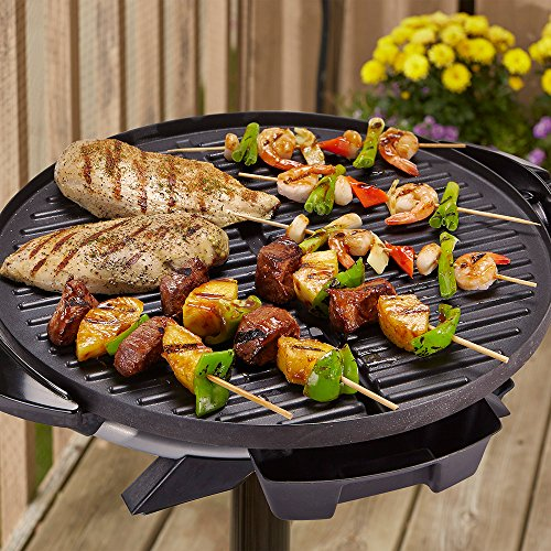 240-IndoorOutdoor-BBQ-Electric-Non-Stick-Barbeque-Grill-Cooking-Sloped-Surface-Temperature-Controls-0-0