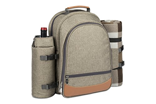 4-Person-Picnic-Backpack-With-Cooler-Compartment-Detachable-BottleWine-Holder-Oversized-Fleece-Blanket-Plates-and-Cutlery-Set-0-1