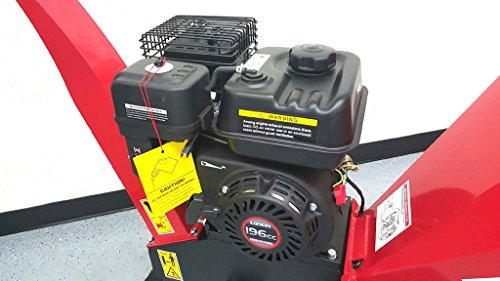 65HP-195cc-Gas-Powered-Wood-Chipper-Yard-Machine-Mulcher-Shredder-4-Capacity-0-0