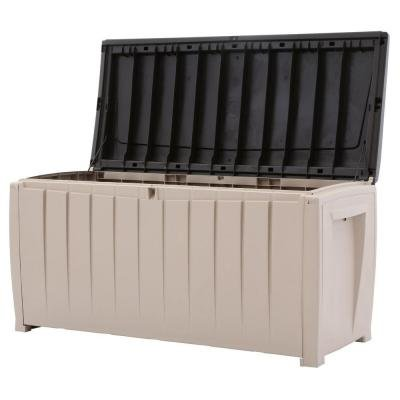90-Gal-Deck-Box-in-Brown-Novel-Durable-Weatherproof-Resin-Construction-Keeps-Contents-Dry-0-0