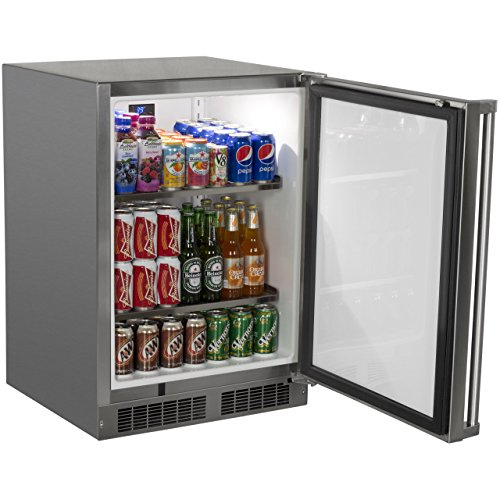 AGA-Marvel-MO24RAS1RS-Outdoor-Refrigerator-with-Lock-Right-Hinge-Stainless-Steel-Door-24-Inch-0-0