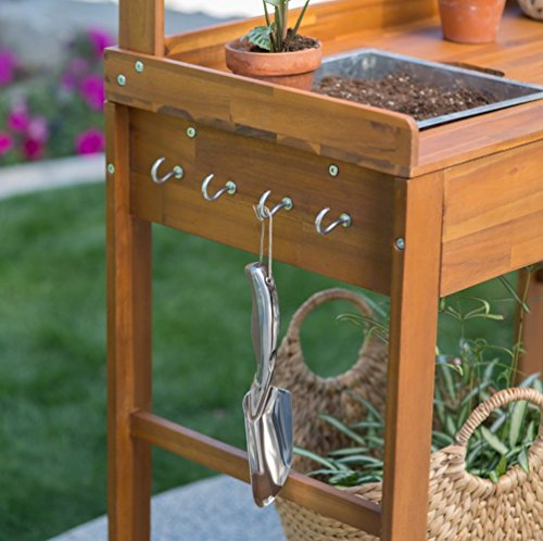 Acacia-Wood-Garden-Potting-Bench-Sink-with-Storage-Drawer-Elevated-Shelf-Wooden-Workstation-Outdoor-Patio-Furniture-Side-Planting-Table-Rolling-Portable-Bar-Cart-on-Wheels-0-1