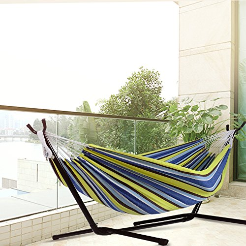 Afranker-Double-Hammock-with-Space-Saving-Steel-Stand-0-0