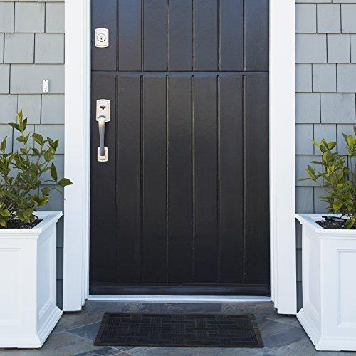 Alpine-Neighbor-Doormat-Low-Profile-Outdoor-Black-Door-Mat-Washable-Cross-Hatch-Outdoor-Rubber-Front-Entrance-Floor-Shoes-Rug-Garage-Entry-Carpet-Decor-for-House-Patio-Grass-Water-0-0