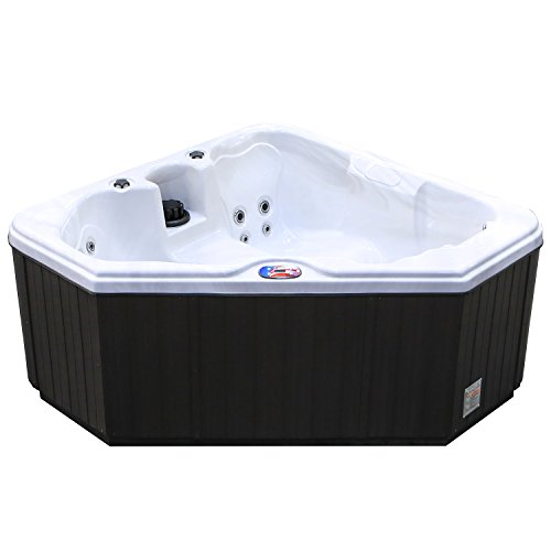 American-Spas-AM-628TM-2-Person-28-Jet-Triangle-Spa-with-Backlit-LED-Waterfall-0-0