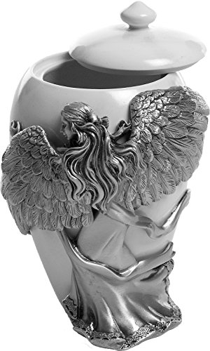 Angelstar-Angels-Embrace-Pewter-Urn-5-Inch-8-Cubic-Inch-0