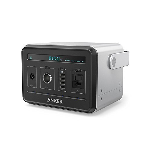 Anker-PowerHouse-Compact-400Wh-120-000mAh-Portable-Outlet-Generator-Alternative-Rechargeable-Power-Source-with-Silent-DCAC-Power-Inverter-12V-Car-AC-USB-Outputs-0