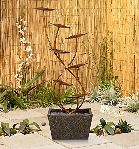 Ashton-Curved-Leaves-Indoor-Outdoor-Copper-Floor-Fountain-0-0