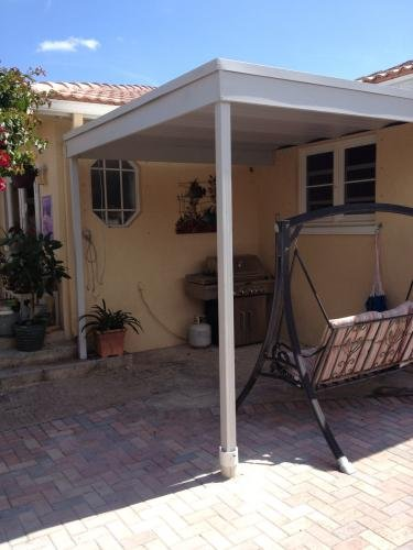 Attached-Patio-CoverCarport-10×10-Galvanized-Steel-and-Vinyl-Coating-Eggshell-FinishFlatroof-0-1