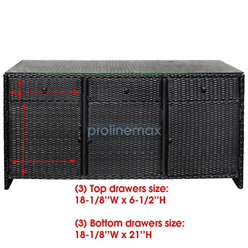 BLACK-3-Drawers-Wicker-Rattan-Buffet-Serving-Cabinet-Table-Towel-Dining-Dish-China-Storage-Counter-Outdoor-0-1