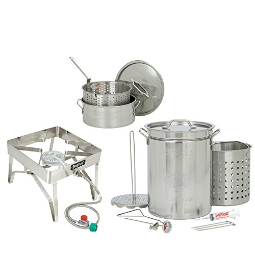 Bayou-Classic-32-Quart-Complete-Stainless-Steel-Deluxe-Turkey-Fryer-Kit-With-10-Quart-Fry-Pot-0-0
