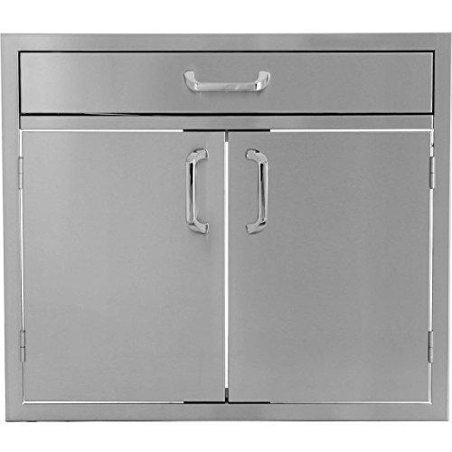 Bbqguyscom-Kingston-Series-30-inch-Stainless-Steel-Double-Door-Single-Drawer-Combo-0