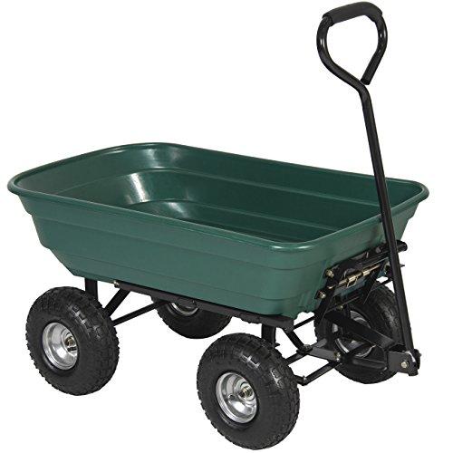 Best-Choice-Products-650LB-Garden-Dump-Cart-Wheelbarrel-Wagon-Carrier-Air-Tires-Heavy-Duty-0