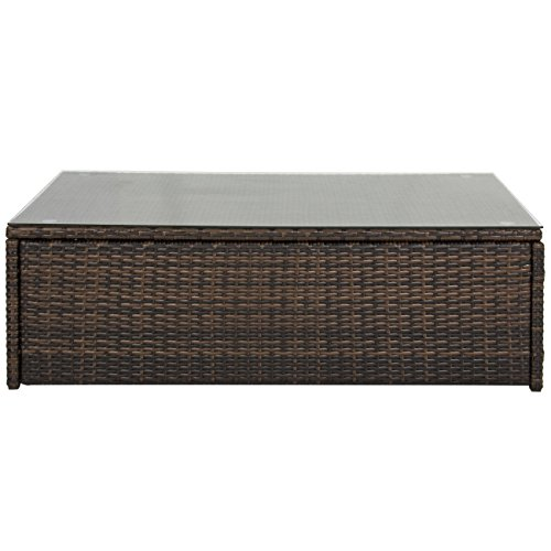 Best-Choice-Products-Outdoor-Wicker-Glass-Top-Coffee-Table-Patio-Garden-Rattan-Furniture-Backyard-0-0