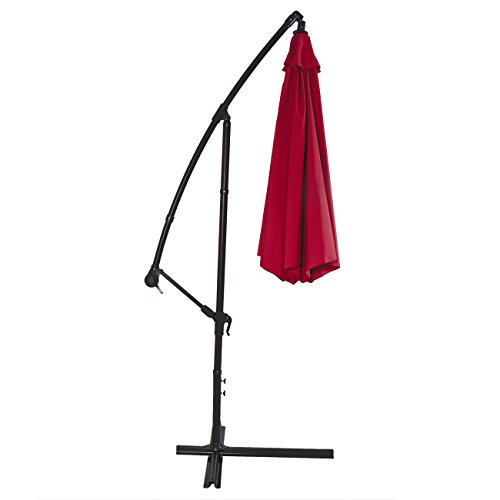 Best-Choice-Products-Patio-Umbrella-Offset-10-Hanging-Umbrella-Outdoor-Market-Umbrella-New-Burgundy-0-1