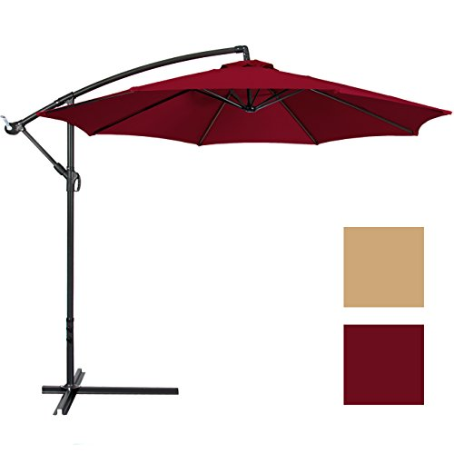 Best-Choice-Products-Patio-Umbrella-Offset-10-Hanging-Umbrella-Outdoor-Market-Umbrella-New-Burgundy-0