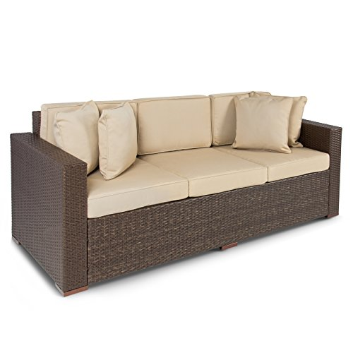 Best-ChoiceProducts-Outdoor-Wicker-Patio-Furniture-Sofa-3-Seater-Luxury-Comfort-Brown-Wicker-Couch-0