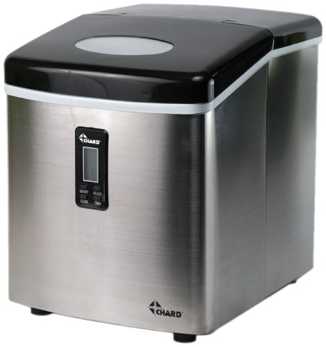 CHARD-IM-12SS-Ice-Maker-with-Stainless-Steel-Finish-Lcs-Display-Ice-35-Pound-0