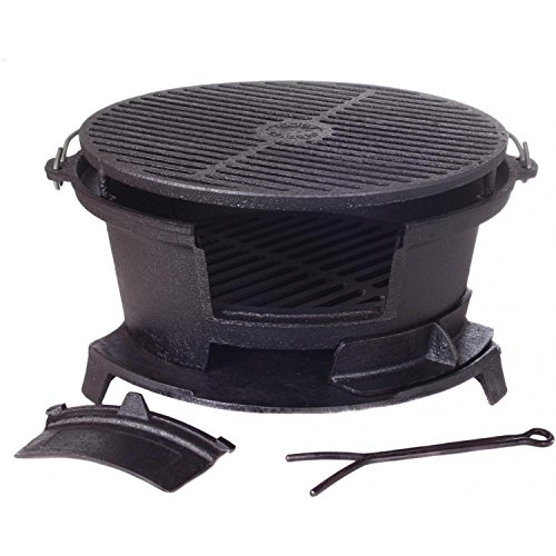Cajun-Cookware-Round-Seasoned-Cast-Iron-Charcoal-Hibachi-Grill-Gl10447-0-0