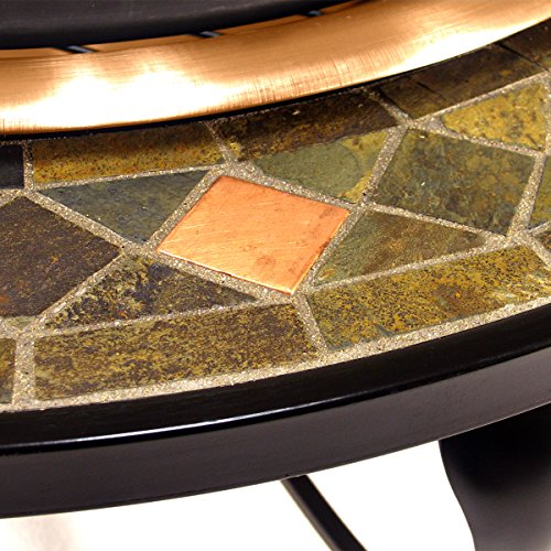 Catalina-Creations-40-Round-Heavy-Duty-Mosaic-Patio-Fire-Pit-with-Copper-Accents-Spark-Screen-and-Accessories-0-0
