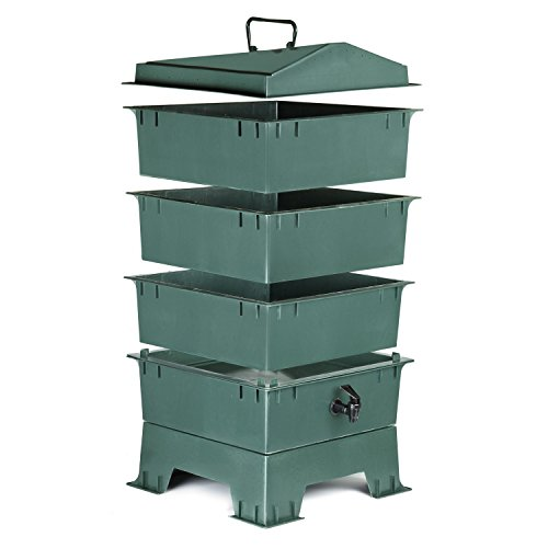 Chefs-Star-3-Tray-Stackable-Expandable-Recycled-Plastic-Odorless-Worm-Composter-0-0