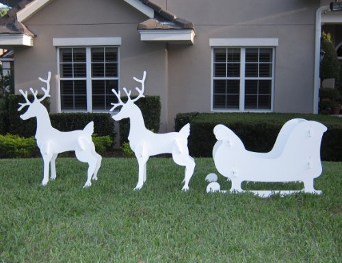 Christmas-Outdoor-Santa-Sleigh-and-2-Reindeer-Set-0-0