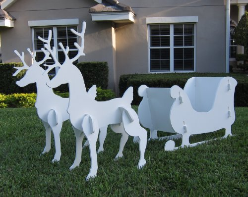 Christmas-Outdoor-Santa-Sleigh-and-2-Reindeer-Set-0