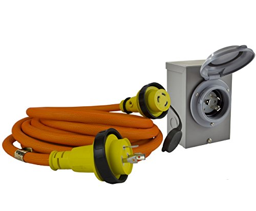 Conntek-GIBL530-025-DUO-RainSeal-Kit-30-Amp-Transfer-Switch-CordGenerator-Extension-Cord-with-Inlet-Box-25-0