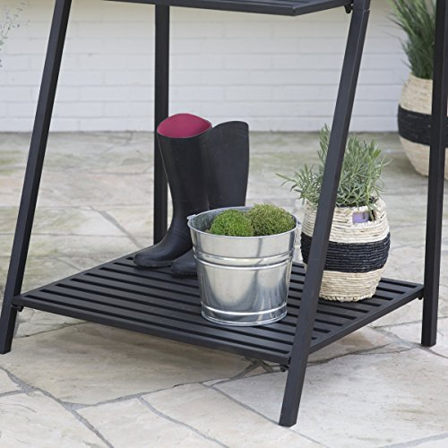 Danbury-Outdoor-Powder-Coated-Steel-Potting-Bench-Comes-in-a-Classic-Black-Finish-with-Bottom-Shelving-to-Keep-you-Organized-Assembly-is-Required-0-1