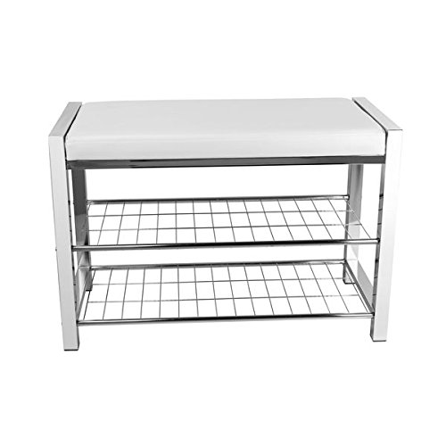 Danya-B-White-Leatherette-Storage-Entryway-Bench-with-Chrome-Frame-HA16832-0-0