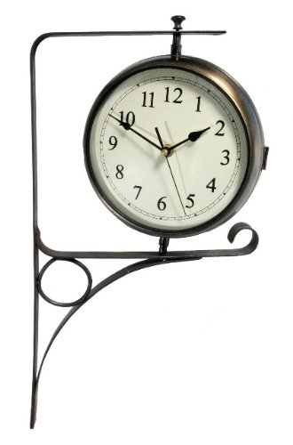 Double-Face-Outdoor-Clock-with-Wall-Bracket-50cm-197-0