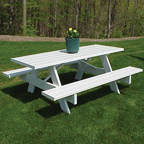 Dura-Trel-Traditional-White-Picnic-Table-0