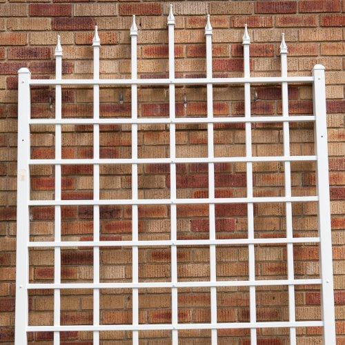 Dura-Trel-Winchester-Wall-Mounted-White-Vinyl-Trellis-0-0