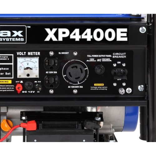 DuroMax-XP4400E-3500-Running-Watts4400-Starting-Watts-Gas-Powered-Portable-Generator-with-Wheel-Kit-0-1
