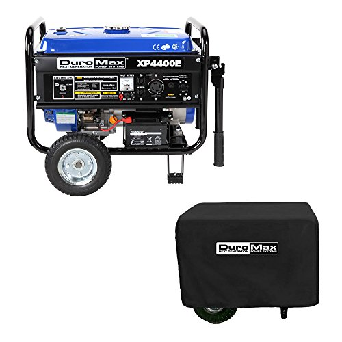 DuroMax-XP4400E-3500-Running-Watts4400-Starting-Watts-Gas-Powered-Portable-Generator-with-Wheel-Kit-0