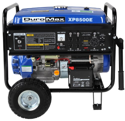 DuroMax-XP8500E-CA-8500-Watt-16-HP-OHV-4-Cycle-Gas-Powered-Portable-Generator-With-Wheel-Kit-And-Electric-Start-CARB-Compliant-0-0