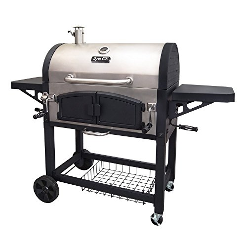 Dyna-Glo-DGN576SNC-D-Dual-Chamber-Stainless-Steel-Charcoal-BBQ-Grill-0