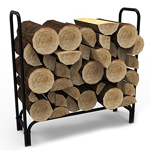 Elite-Flame-4-Foot-Indoor-Outdoor-Firewood-Shelter-Log-Rack-with-All-Weather-Cover-0-0