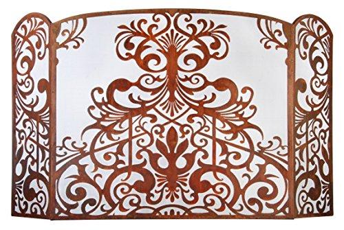 Esschert-Design-Laser-Cut-Sheet-Metal-Fireplace-Screen-0
