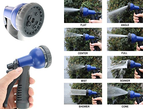 FOCUSAIRY-50-Feet-Expanding-Heavy-Duty-Expandable-Strongest-Garden-Water-Hose-with-Shut-Off-Valve-Solid-Brass-Connector-and-8-pattern-Spray-Nozzle-0-0