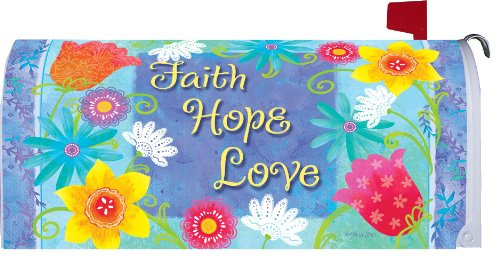 Faith-Hope-Love-Mailbox-Makeover-Vinyl-Magnetic-Cover-0