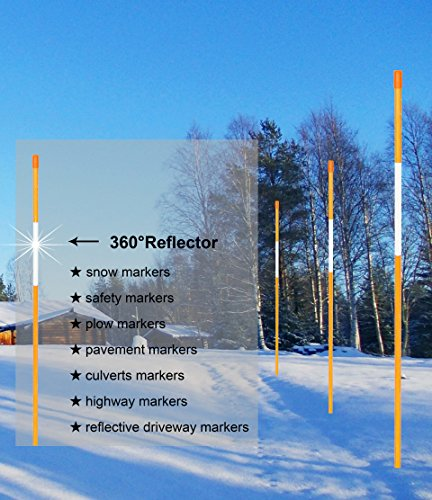 FiberMarkers-14Inch-x-4Ft-Orange-100-Pack-Hollow-Driveway-Markers-Snow-Poles-Reflective-Snow-Markers-0-0