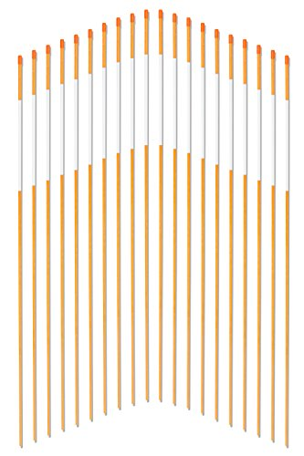FiberMarkers-14Inch-x-4Ft-Orange-100-Pack-Hollow-Driveway-Markers-Snow-Poles-Reflective-Snow-Markers-0